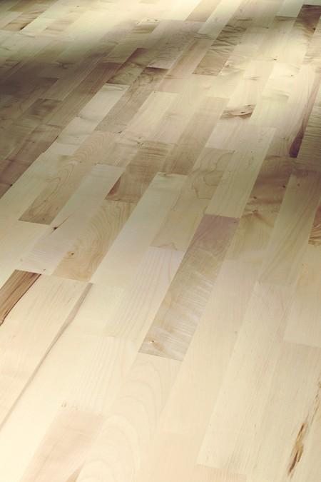 Schiffsboden 3-Stab Bergahorn Rustikal lackversiegelt matt weiß 1366065